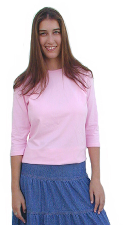 3/4 Sleeve shirts with 5% Spandex