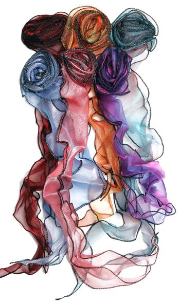 Chiffon Rosebud Ribbon