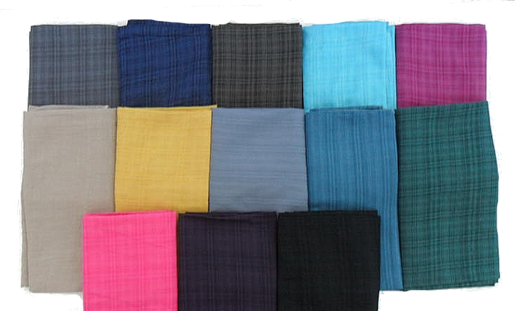 Gauzy solid colored cotton scarf
