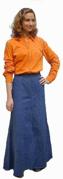 Slimming A-Line skirt